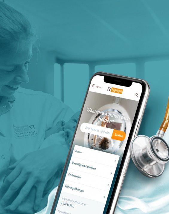 Medisch & zorg Regionaal Ziekenhuis Tienen Webdesign, webdevelopment, content management